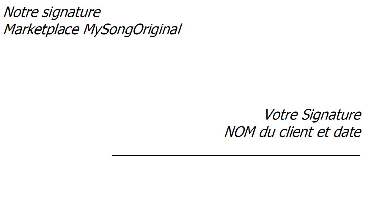 Exemple mandat de vente MySongOriginal