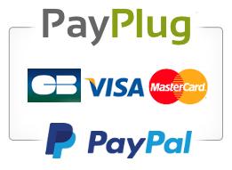Paiement 100% sécurisé avec PayPlug 3D-Secure, Paypal et Oney